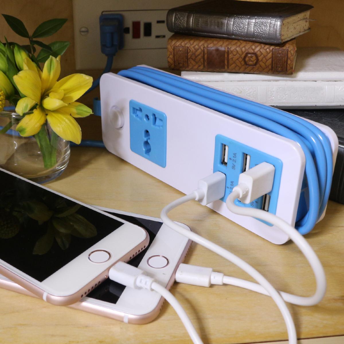 6 Port USB  amp  Universal Power Socket Adapter