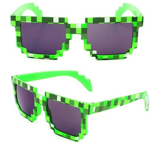 8-Bit Pixelated Purple Sunglasses Geek Square Nerd 90/'s Adult