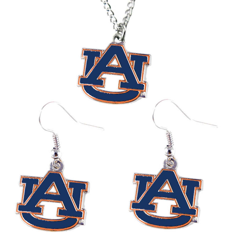 Auburn Tigers Necklace and Dangle Earring Charm Set - NCAA 1e280acb0e58