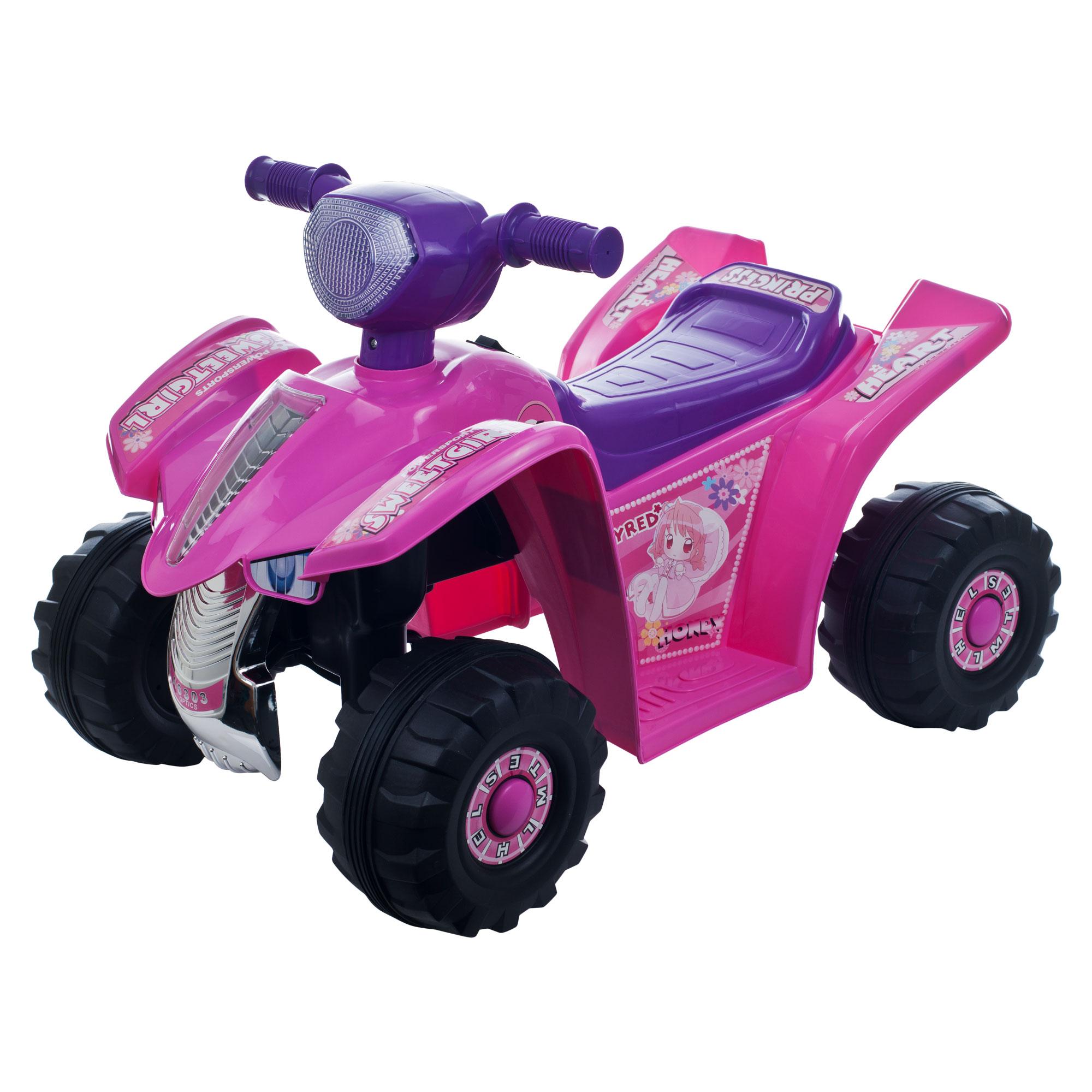 Lil  Rider Pink Princess Mini Quad Ride-on Car Four Wheeler 151358
