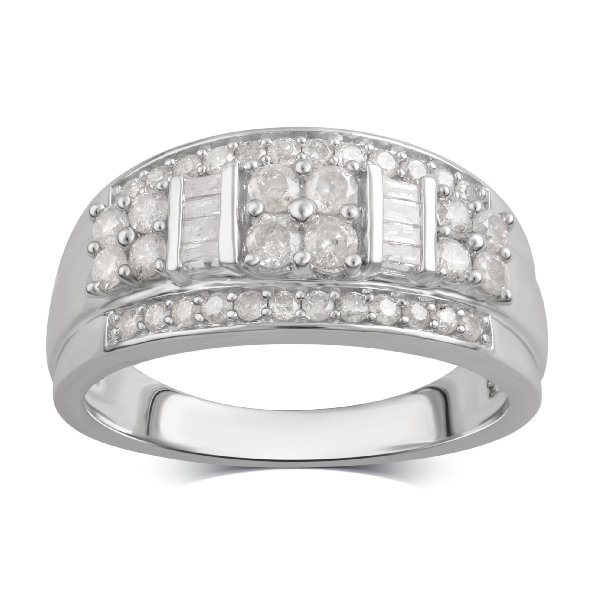 3 4 cttw Diamond Ring in Sterling Silver