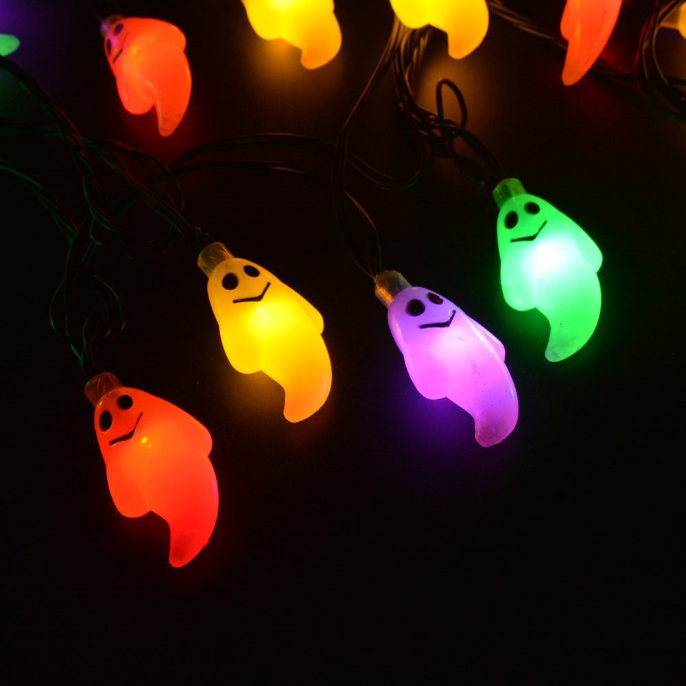 1.2M 10LED Ghost String Lights For Halloween Party Decor Halloween Lig