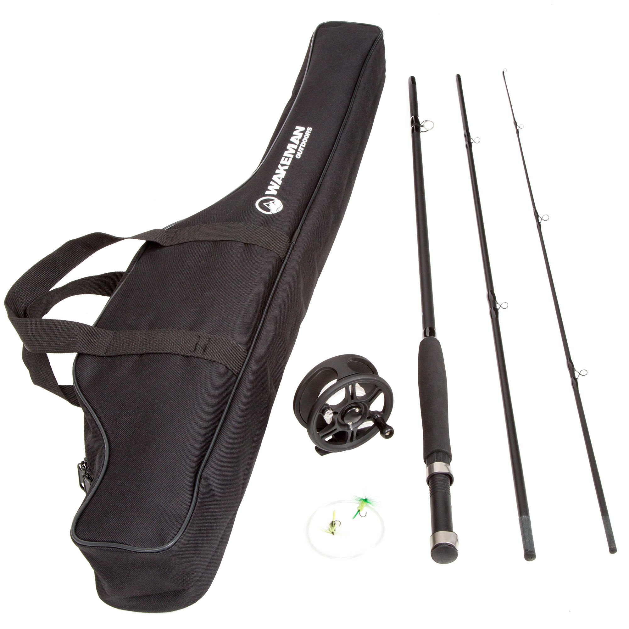 Wakeman Charter Series Fly Fishing Combo with Carry Bag - Black 40931