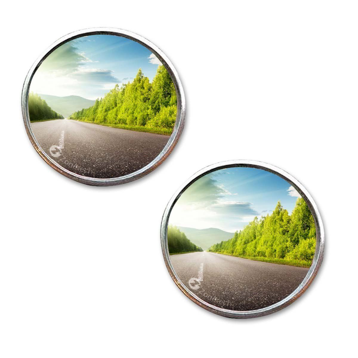 Zone Tech 2  Round Rear-view Blind Spot Convex Wide Angle Mirrors
