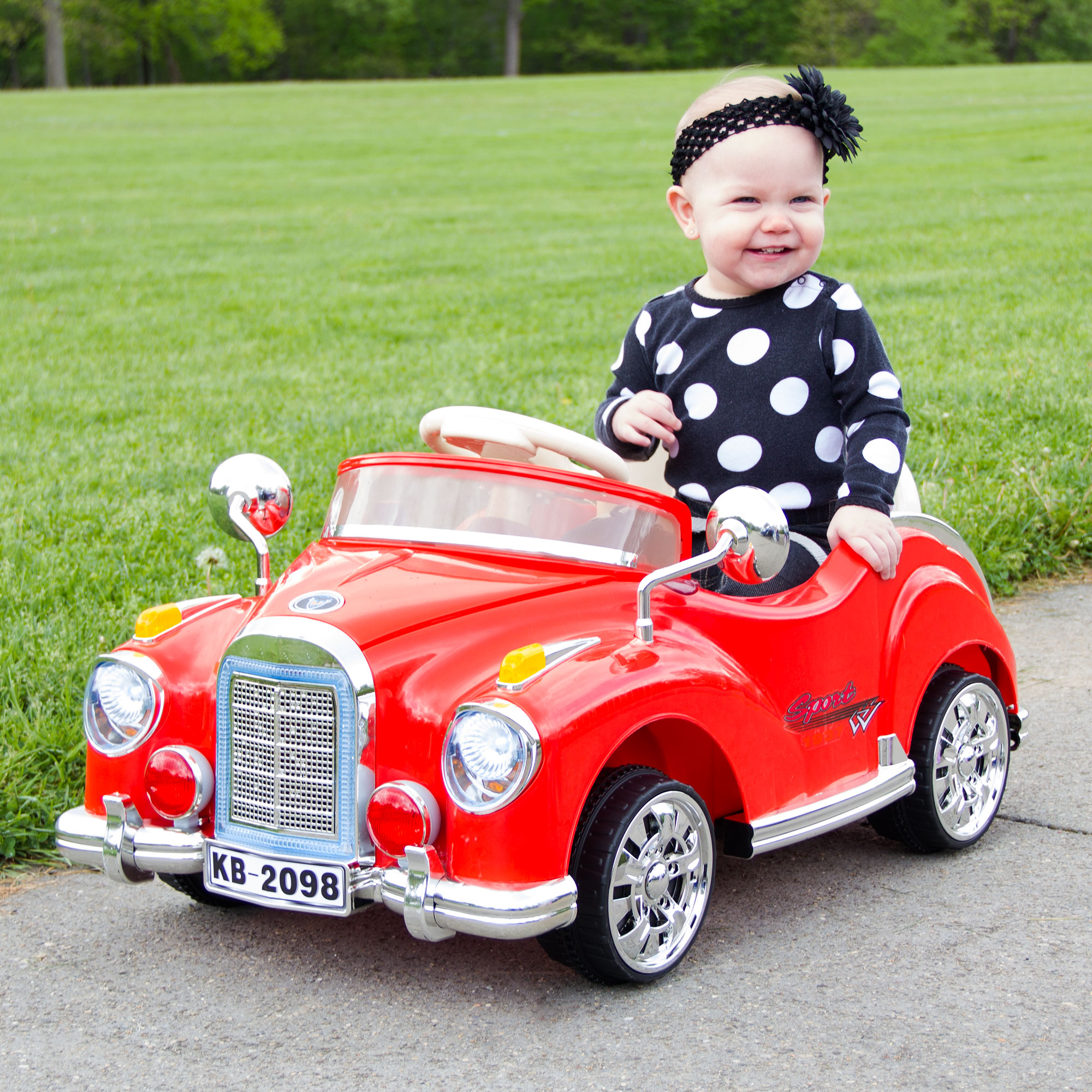 Lil\' Rider Cruisin\' Coupe Battery Operated Classic Car with Remote ...