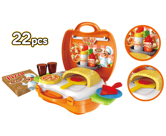 Pizzeria 22 Piece Suitcase Playset