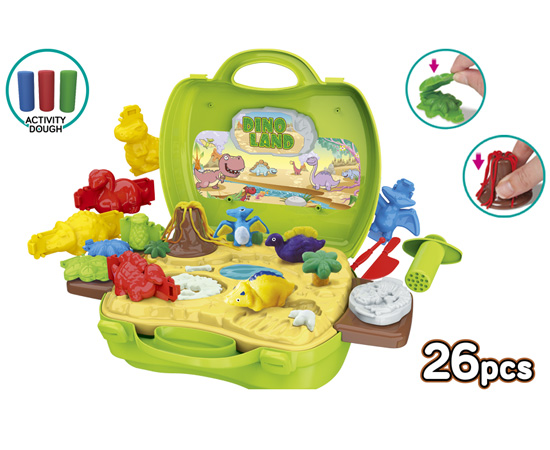 Activity Dough Dinosaur 26 Piece Suitcase Playset
