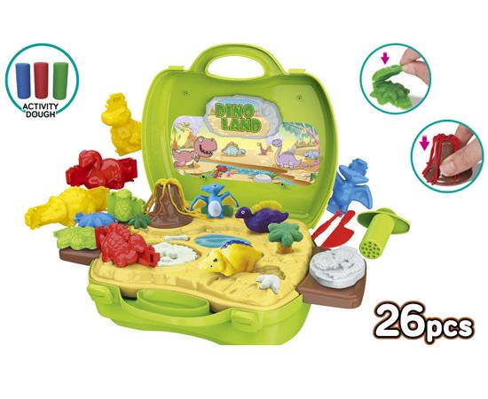 Activity Dough Dinosaur 26 Piece Suitcase Playset 11227533
