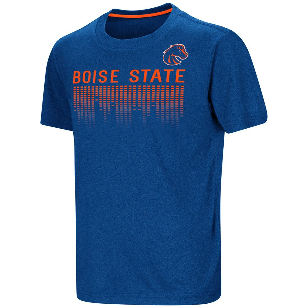 Boise state broncos youth t shirt perforrmance athletic for Boise t shirt printing