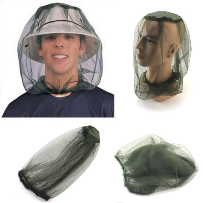 2 Piece Mesh Mosquito Face Protector