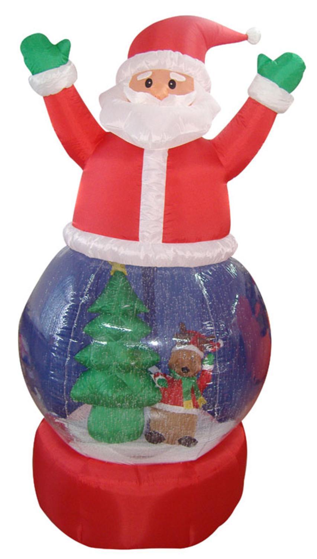 Inflatable santa claus snow globe lighted christmas