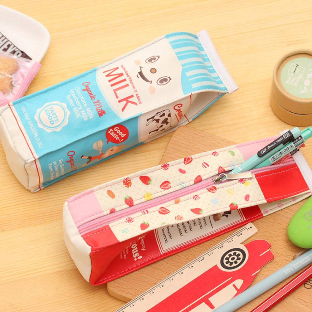 Cute Cartoon Stationery Pencil Pen Case Cosmetic Makeup Bag