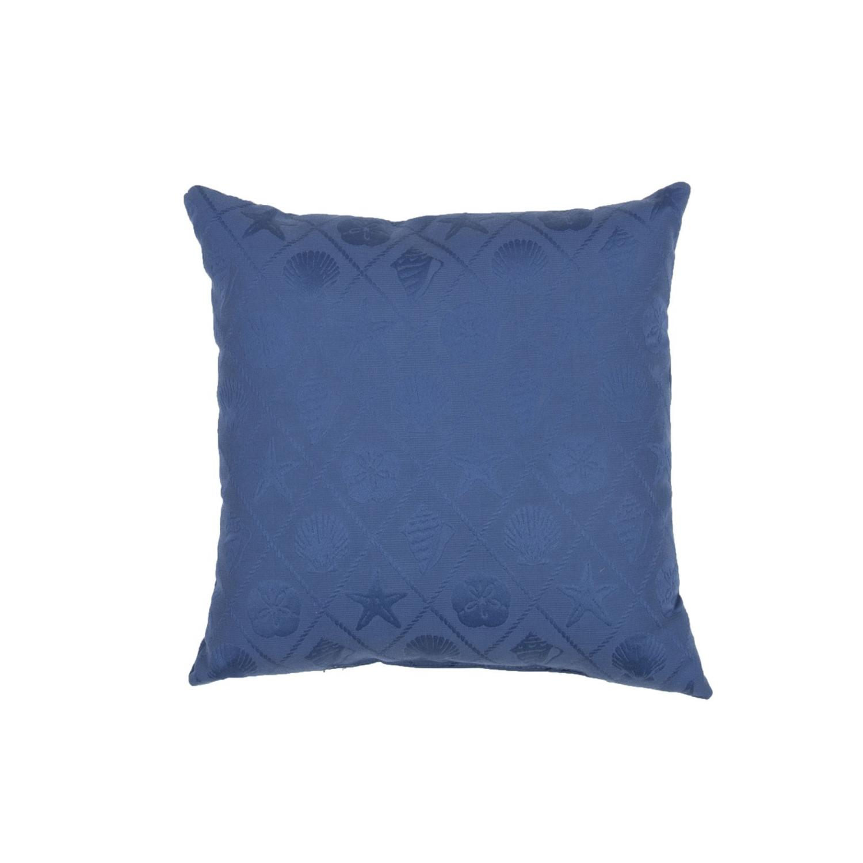 Deep Blue Throw Pillows : 18 Deep Blue Solid Pattern Decorative Throw Pillow - Tanga