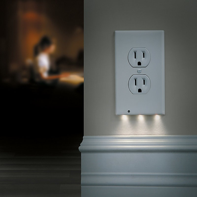 Night Angel 3 Led Duplex Night Light Outlet Cover Tanga