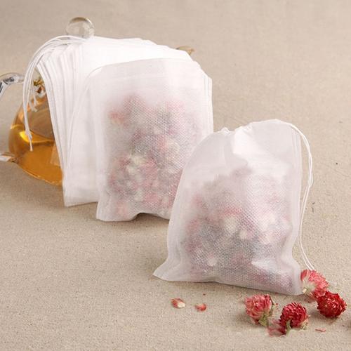 100 Pieces Drawstring Filter Tea Bags