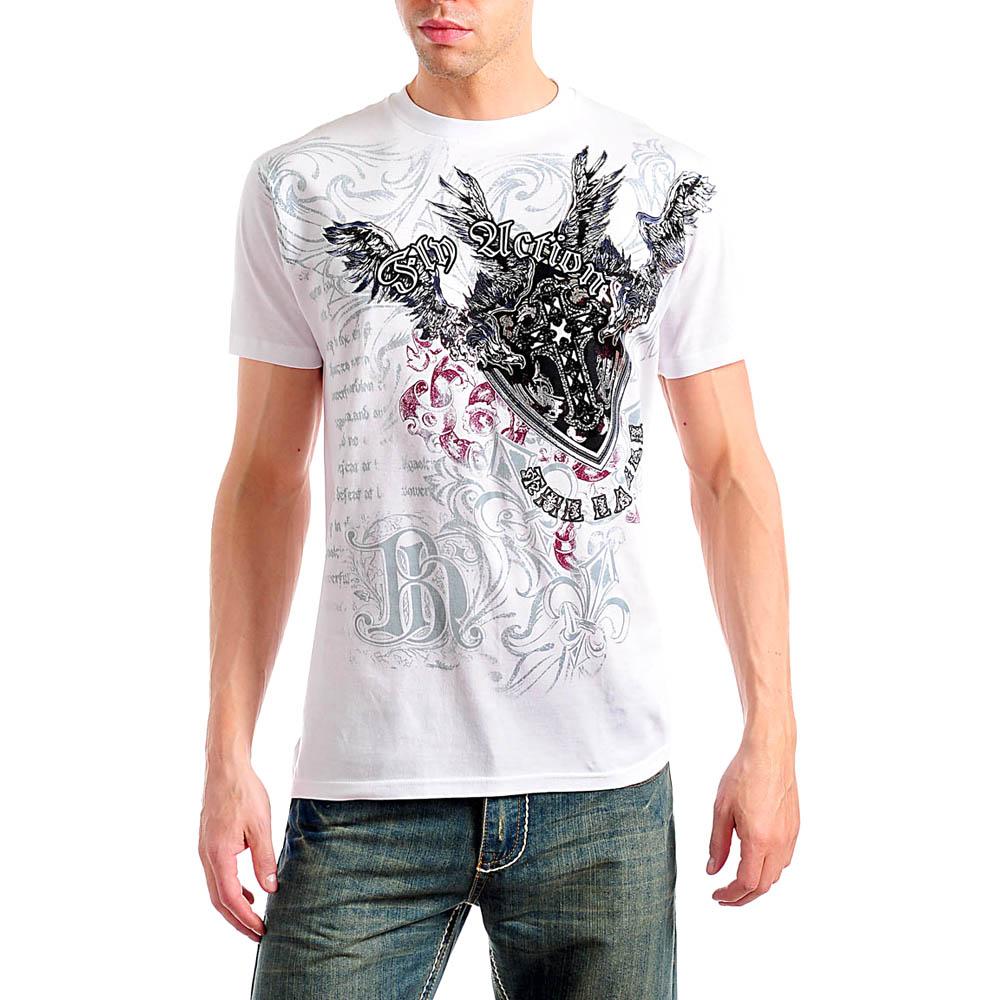 Men 39 S Urban Graphic Print Tattoo Cross White T Shirt Tanga