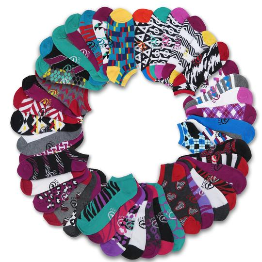 21 Pairs  Ecko Red Women s Fun Print Ankle Socks
