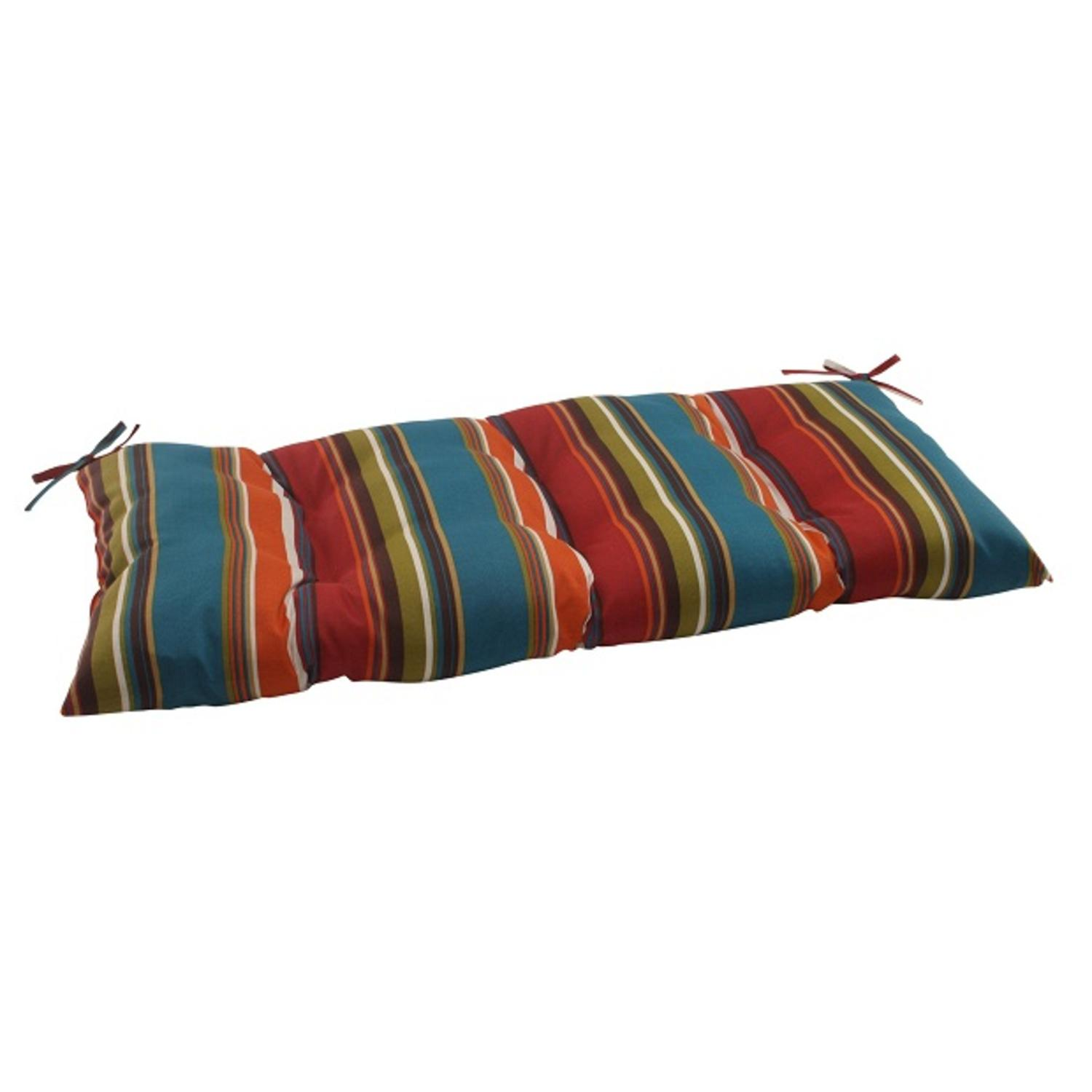 44 Quot Moroccan Striped Outdoor Patio Tufted Loveseat Cushion