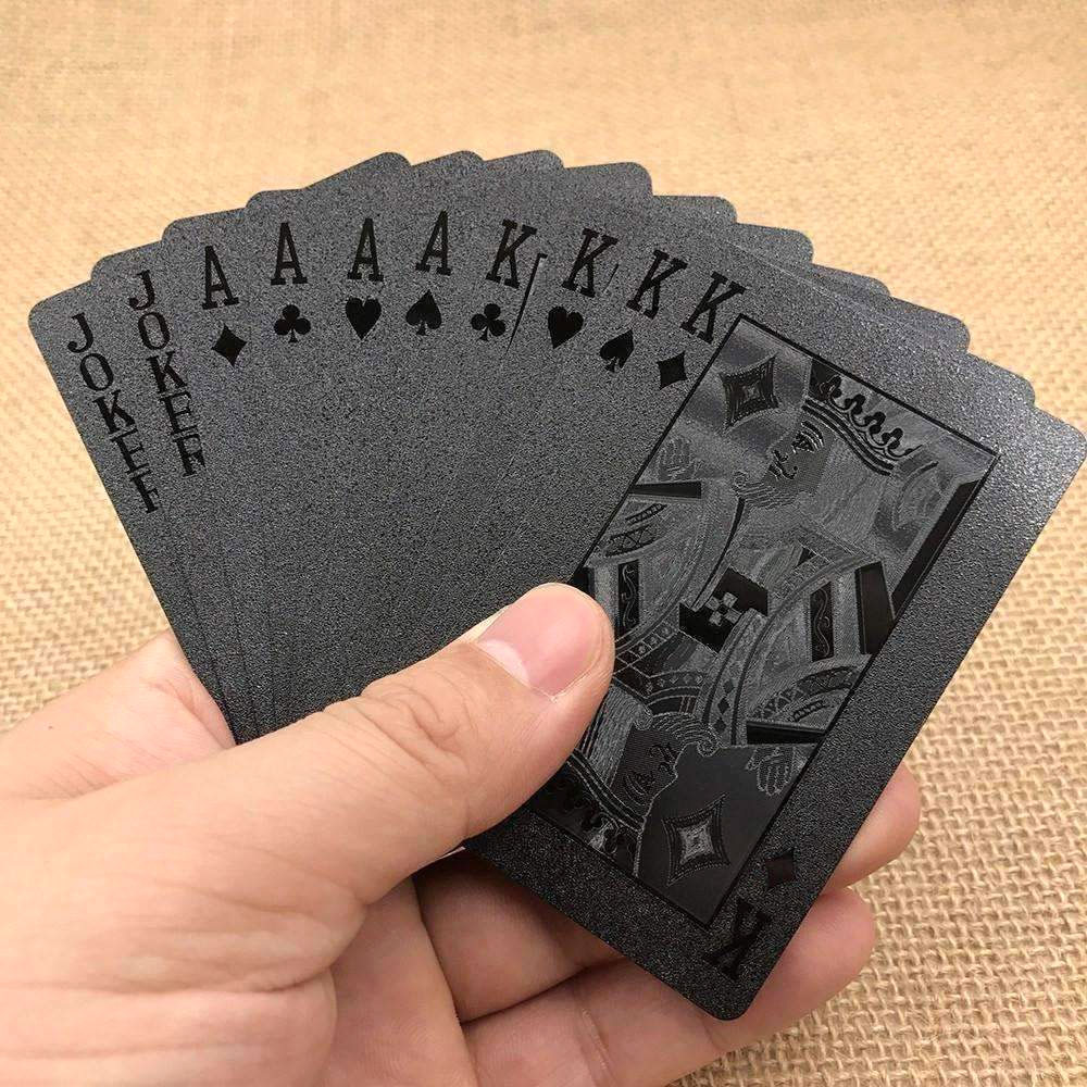 24K Black Diamond Playing Card