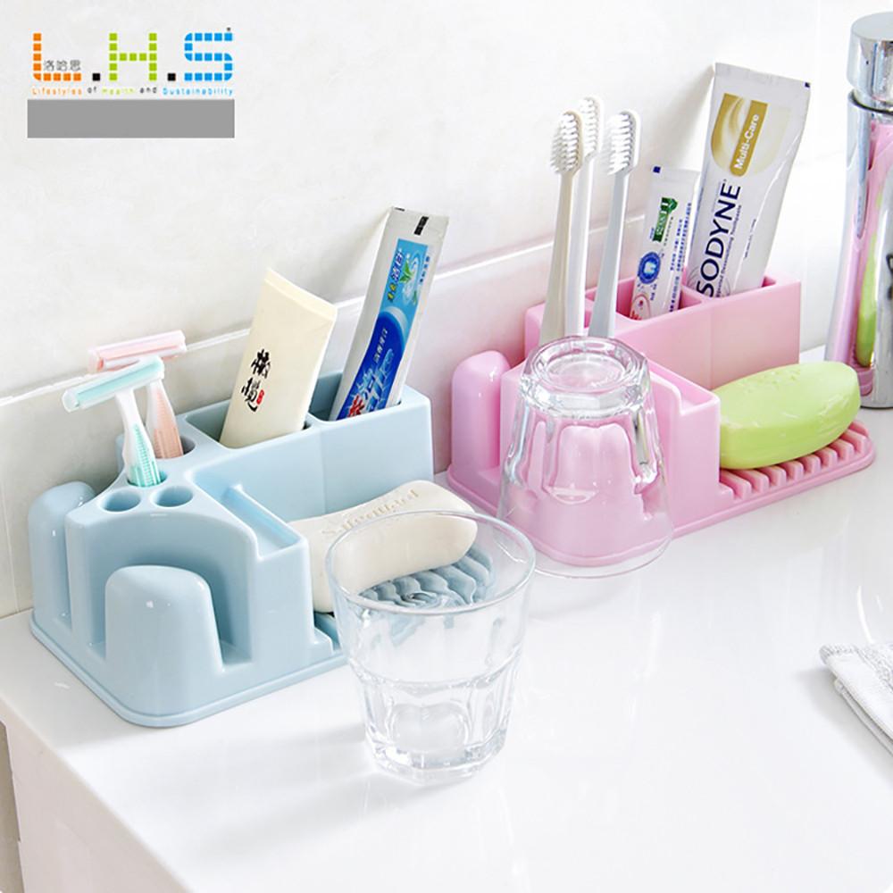 Bathroom Washable Storage Rack Bathroom Toothbrush Cup Holder 9784136