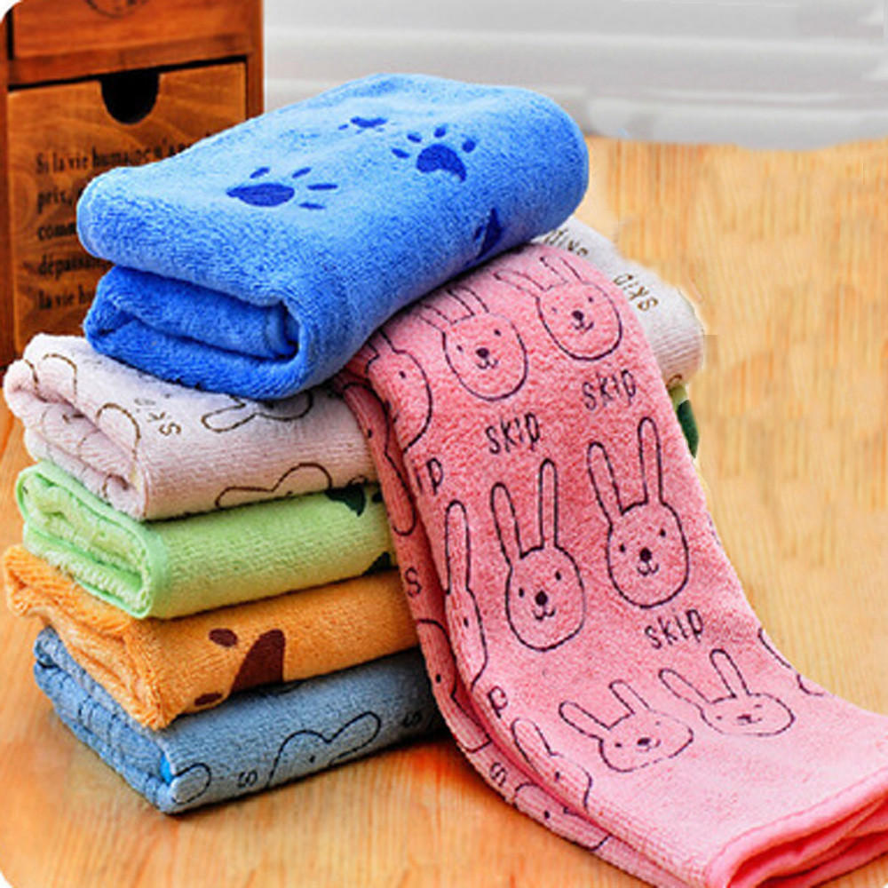 Pet Water Towel Cartoon Printing Quickly Dry Wrapped Towel