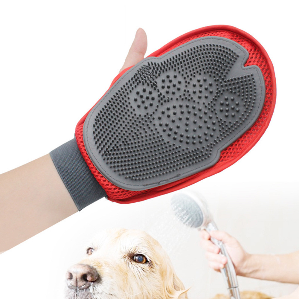 Touch Deshedding Brush Glove Pet Dog Cat Gentle Massage Grooming Left 04cc65cb95ff