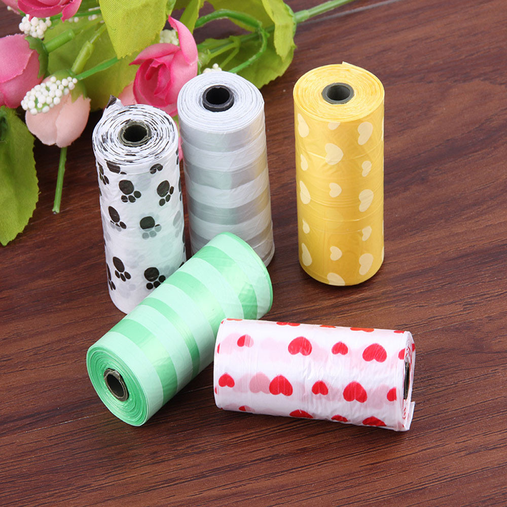 150pcs Degradable Pet Waste Poop Bags Dog Cat Clean Up Refill Garbage