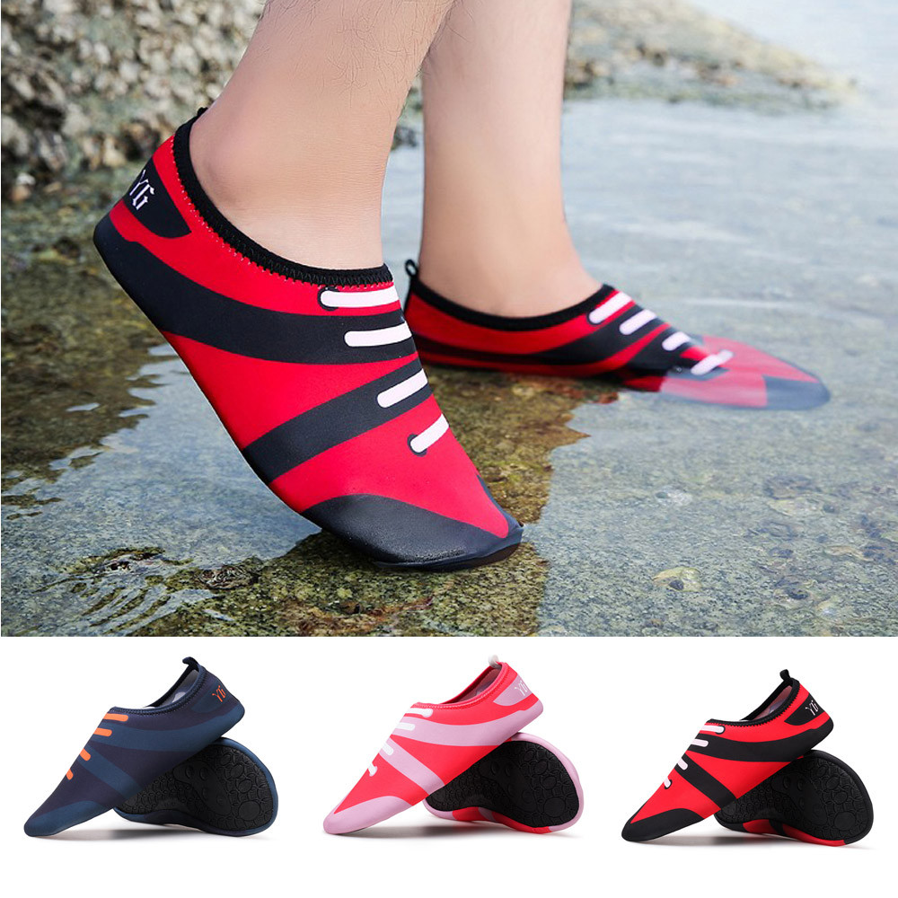 Men Women Printed Quick-Dry Swim Surf Socks Yoga Skin Sports Beach Sho