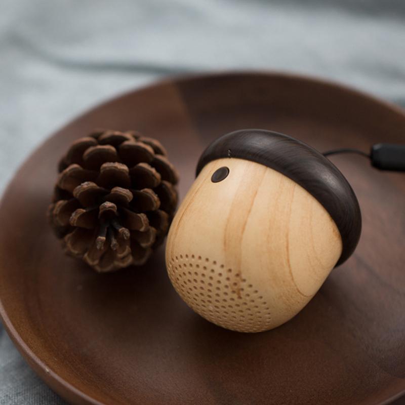 JS Portable Mini Wireless Bluetooth Nut Speaker with Sling
