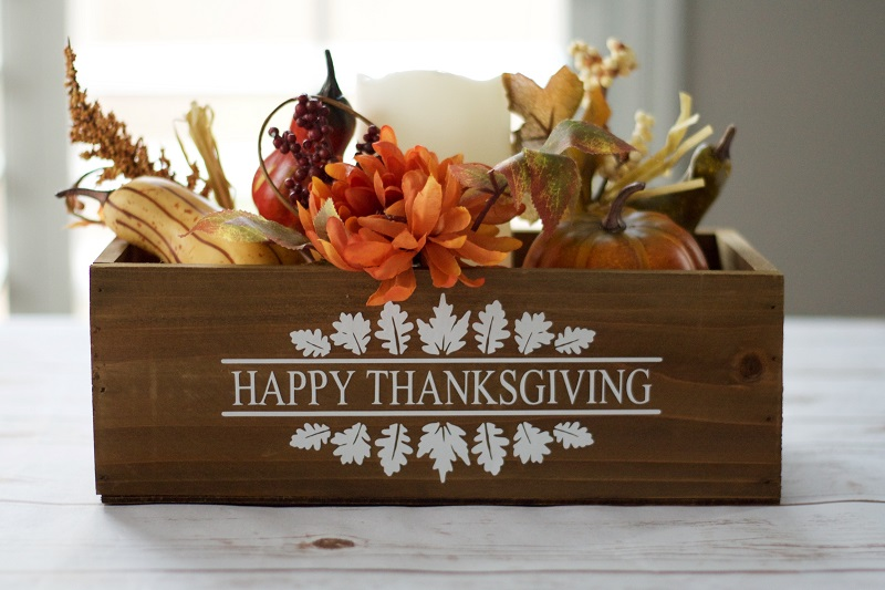 Happy Thanksgiving Autumn Decal
