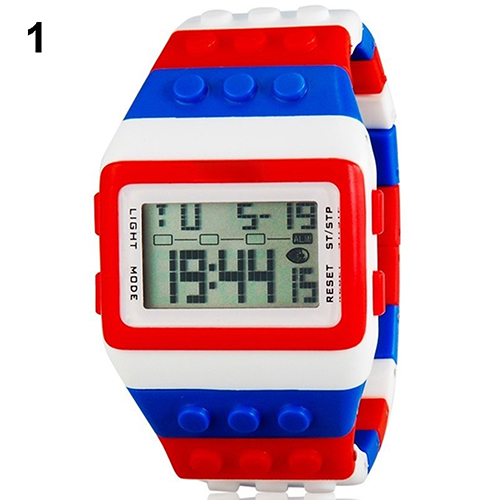 Unisex Colorful Block Brick Style Casual Sport Watch 6325578