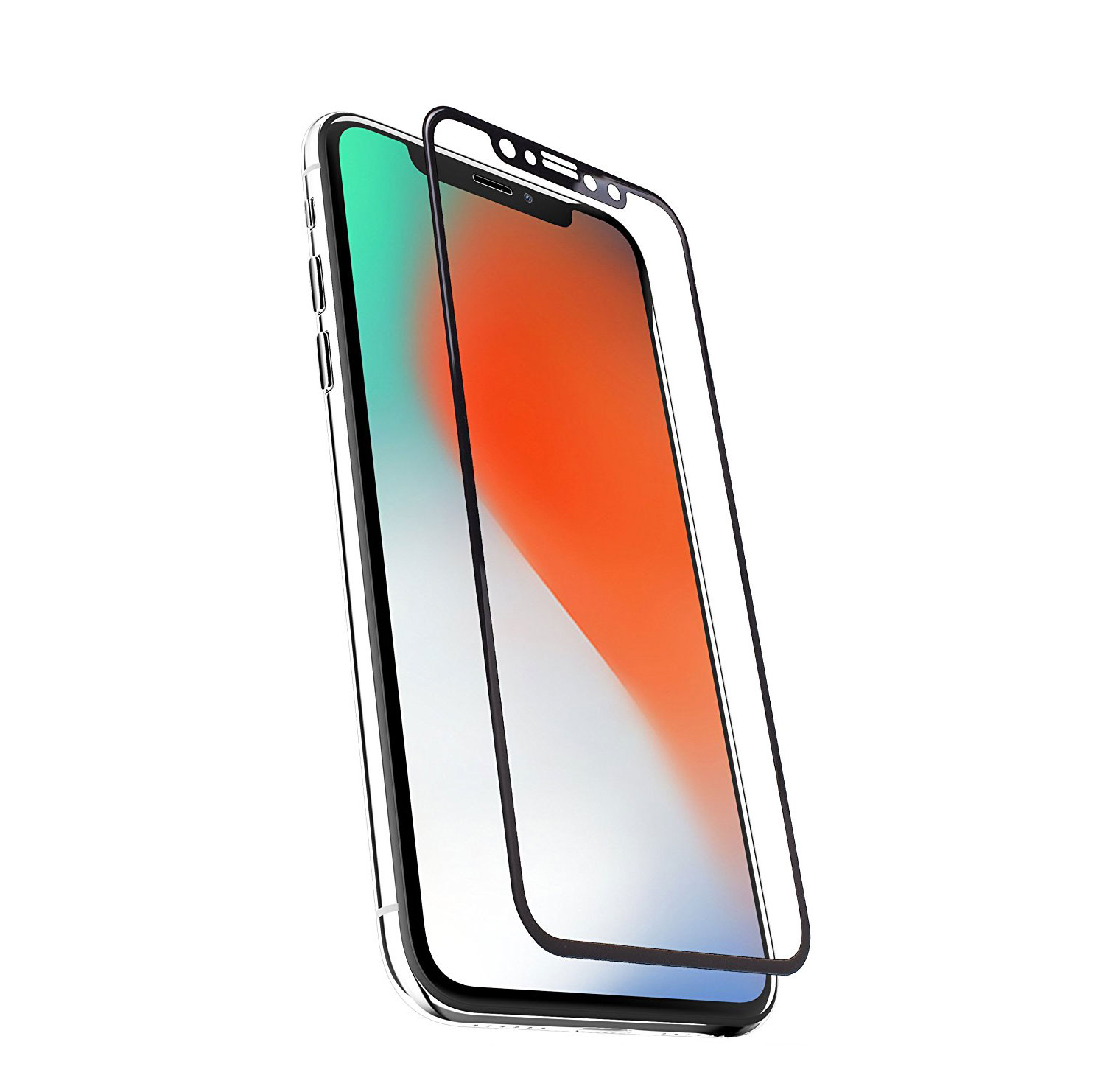 iPhone X Full Screen Tempered Glass Armored Screen Protector 12018447