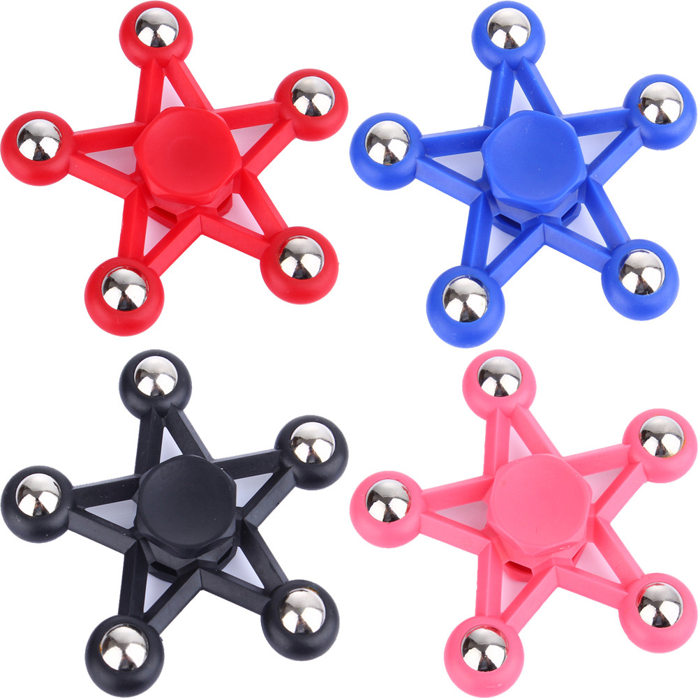 Five Star Fidget Toy Ceramic EDC Finger Spinner
