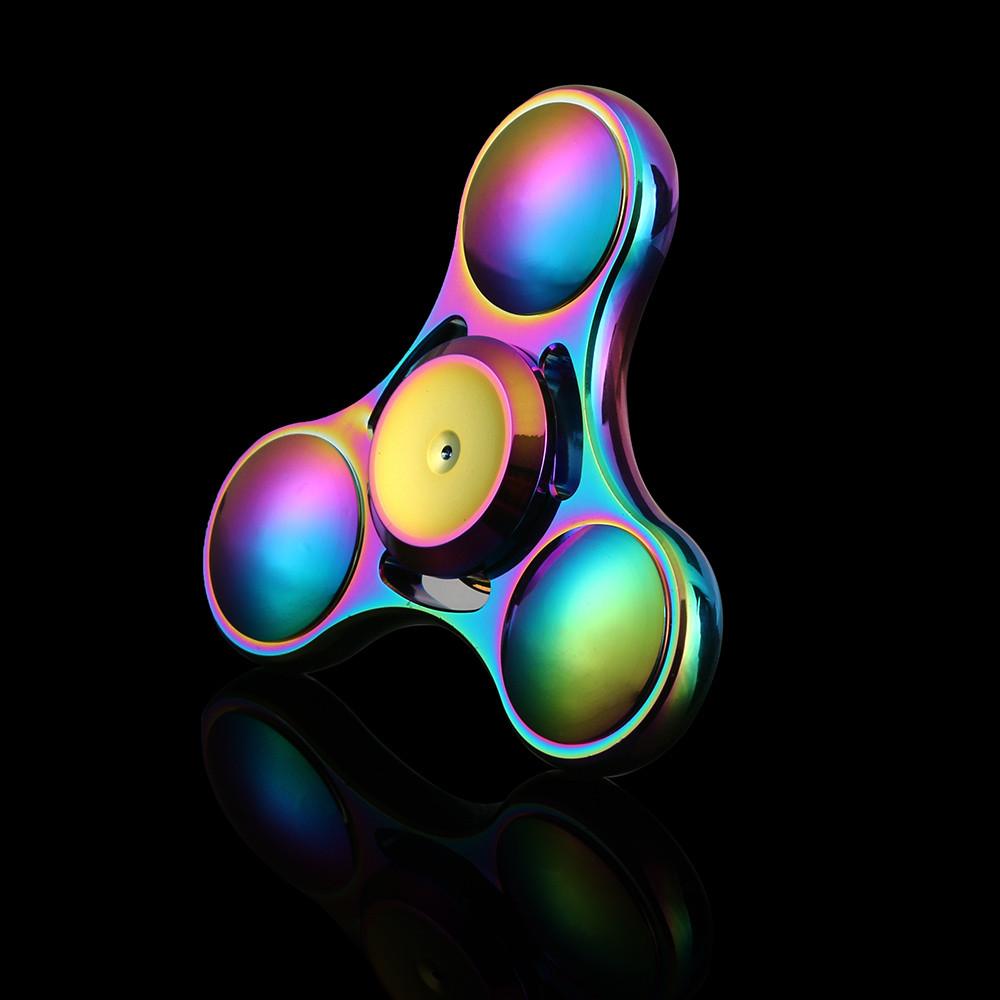 Rainbow Titanium Alloy Hand Fidget Spinner