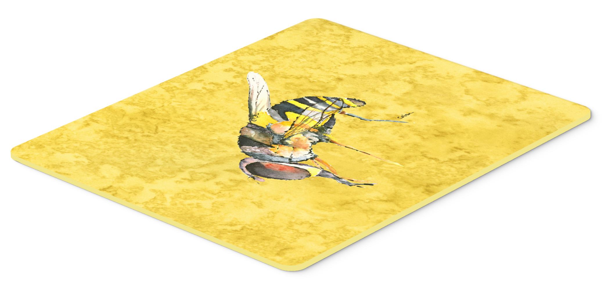 Bee On Yellow Kitchen Or Bath Mat 24x36 Tanga