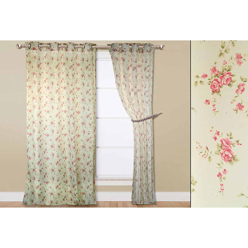 2-Pack Elegant 54  x 84  Printed Curtain Window Panels - 9 Styles Avai