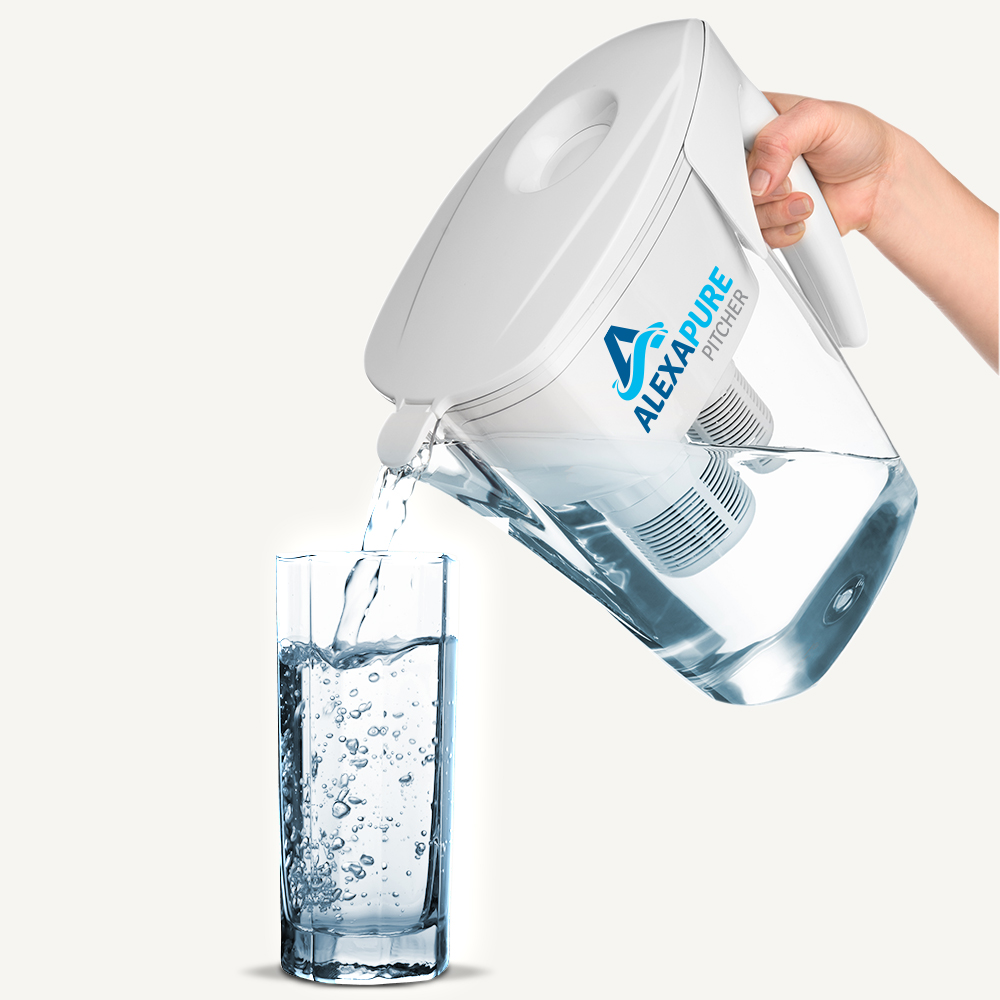 Alexapure Pitcher Water Filtration System, Reduces up to 92 Contaminan 044076091d95