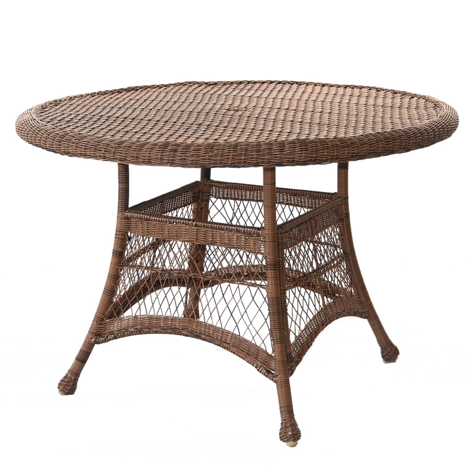 5 piece honey resin wicker chair table patio dining for Best deals on patio furniture sets