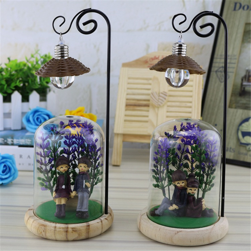 Creative Couple Micro Landscape Style Table Lamp 11617944