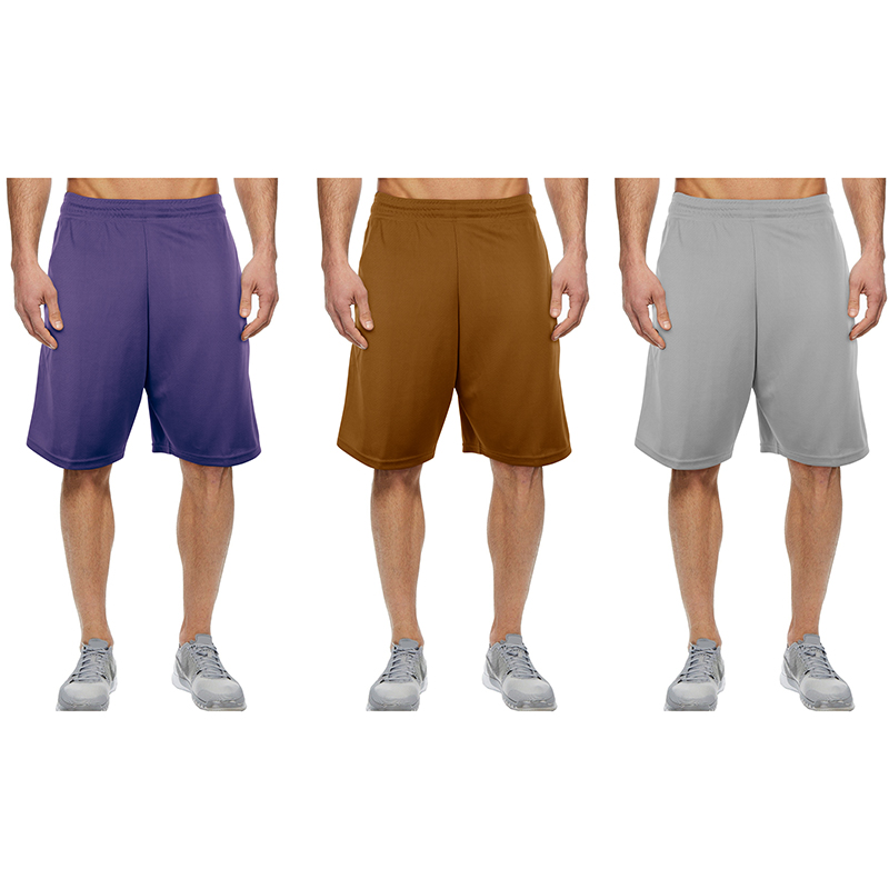5-Pack Mystery Deal  Men s Moisture-Wicking Solid Mesh Shorts
