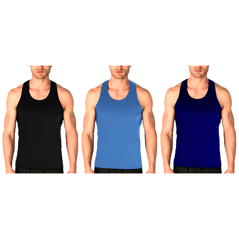 Men s 100% Cotton Ribbed Tank Tops - Assorted Colors
