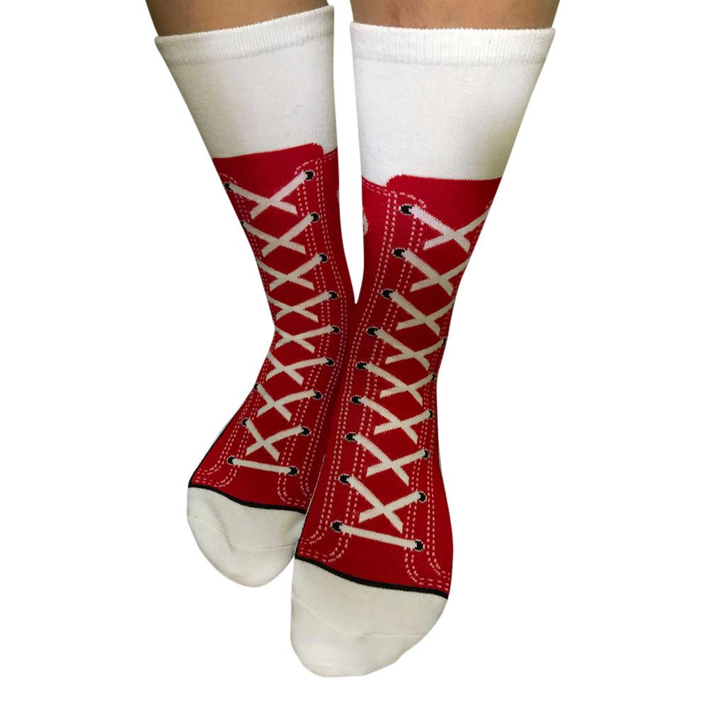 Women Men Shoelace Print Harajuku Letter Cotton Skateboard Sock Socks
