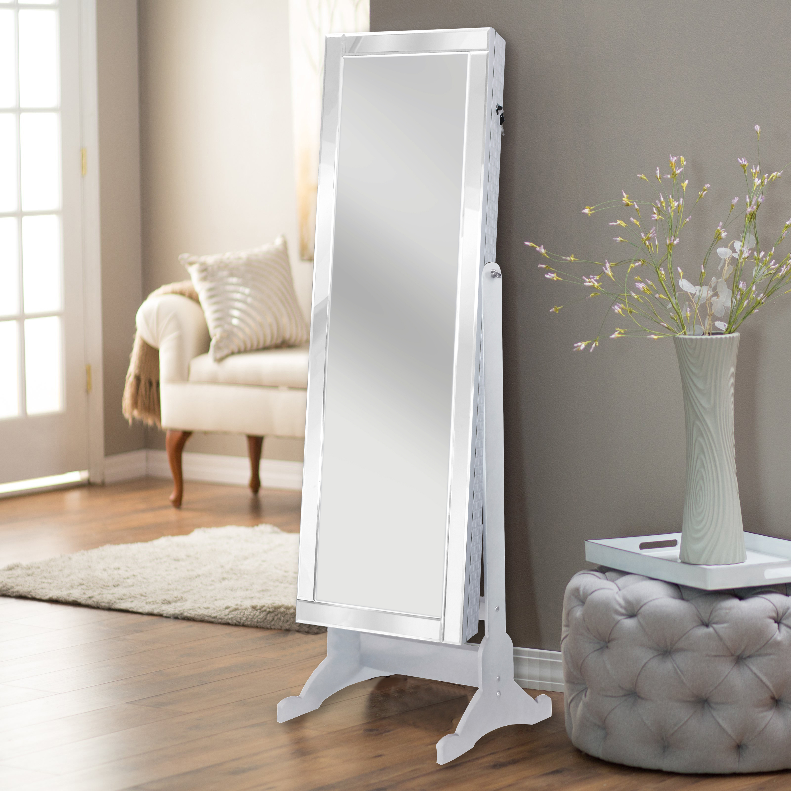 Chic Home Glam Mirror Border and Jewelry Armoire Cheval f1aad8594f30