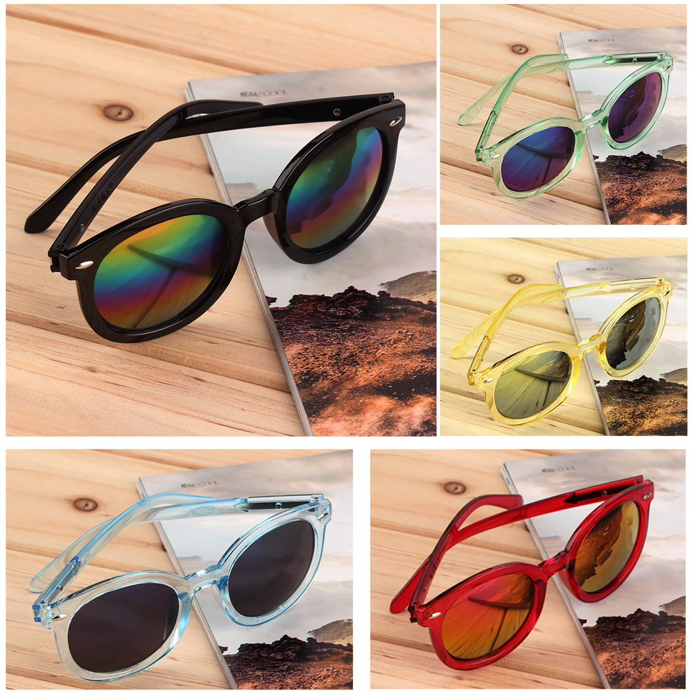 Fashion Women Lovely Retro Round Frame Sunglasses 6355957
