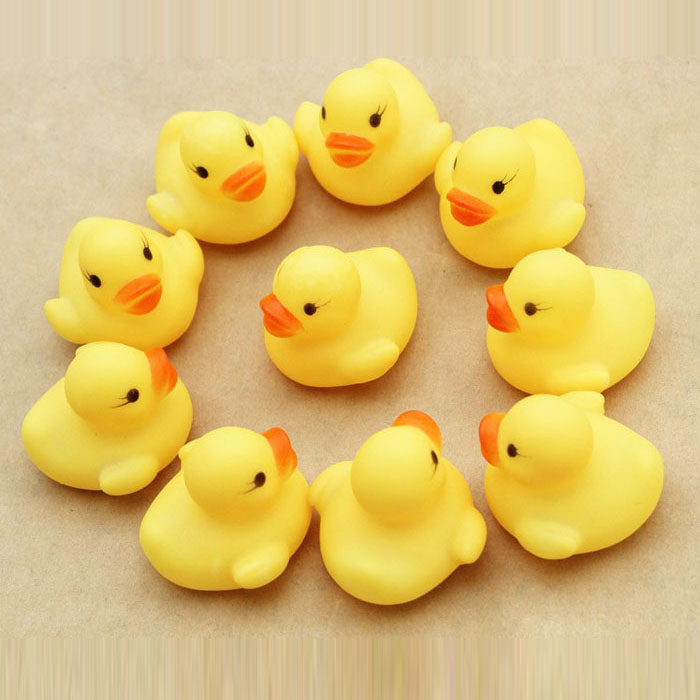 12-Piece Yellow Rubber Ducky Party Favors