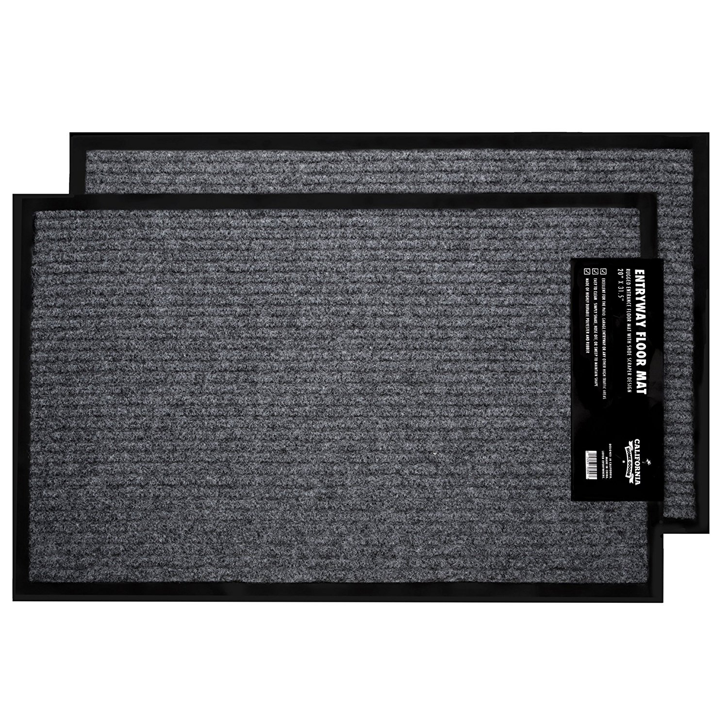 2 Pk Indoor Outdoor Commercial Floor Mat Rugged Rug 20 Quot X