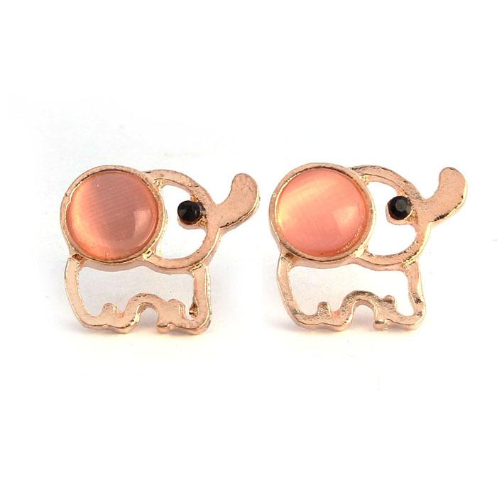 Women s Elephant Rhinestone Stud Earrings