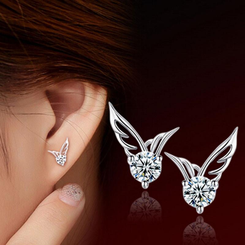 Women s Fashion Elegant Angel Wings Earrings