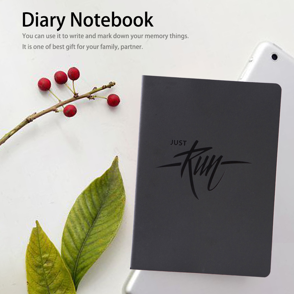 JOYTOP B5 Black Paper Notepad Notebook Diary Book Letter Printed Noteb