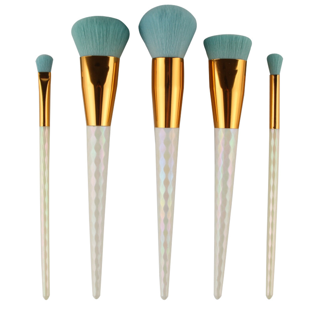 5Pcs Colorful Cosmetic Eyebrow Eyeshadow Brush Makeup Brush Sets Kits
